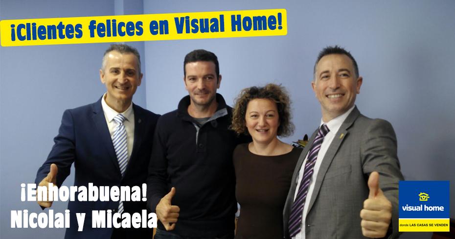 Nicolai y Micaela: Clientes felices en ►Visual – Home◄