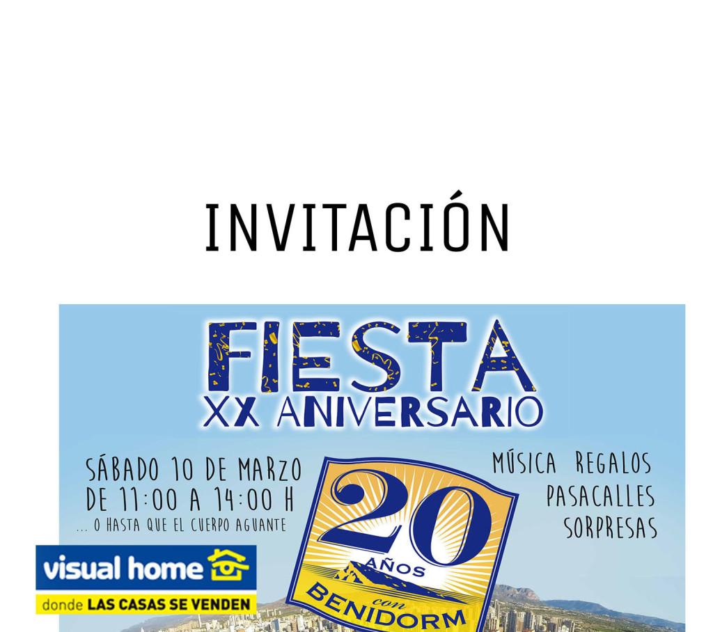 Aquí está tu INVITACIÓN a la fiesta de nuestro 20 aniversario en #Benidorm — Visual Home