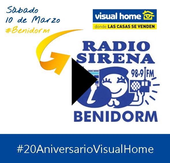 Entrevista de Radio Sirena Cope en Benidorm a Juan Carlos Gallego – FIESTA 20 Aniversario de Visual Home
